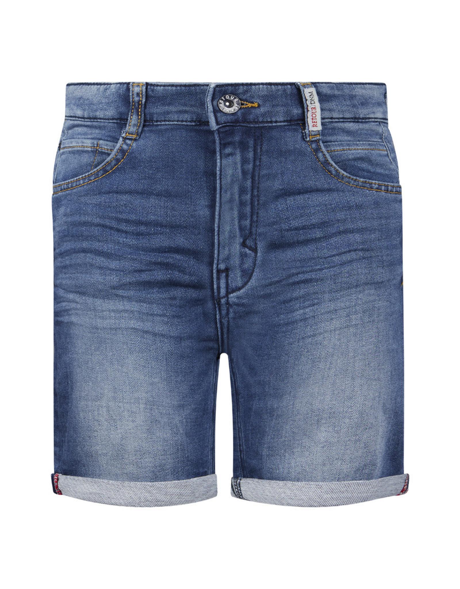 RETOUR Retour jongens korte spijkerbroek Loek Medium Blue