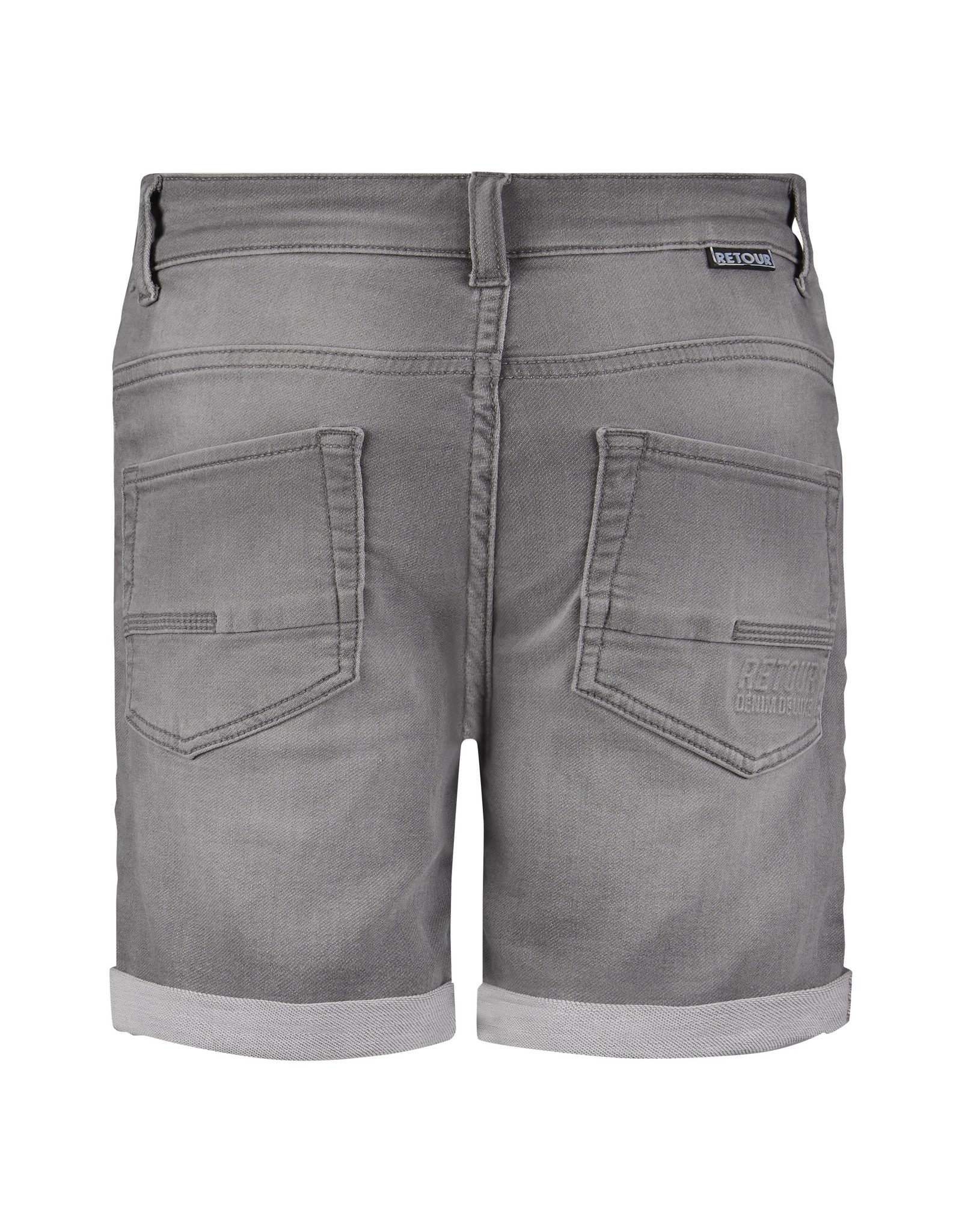 RETOUR Retour jongens korte spijkerbroek Loek Light Grey