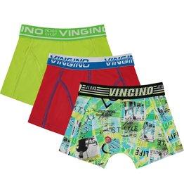 Vingino Vingino jongens ondergoed 3-pack Lifestyle Neon Green
