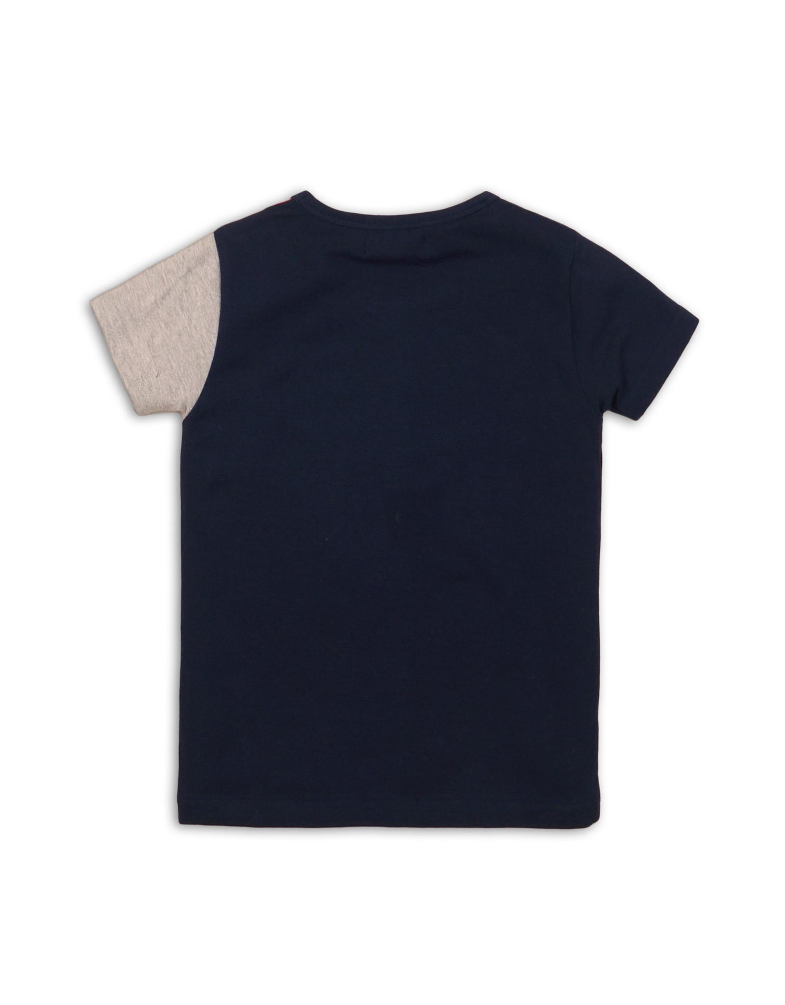DJ Dutchjeans DJ Dutchjeans meisjes t-shirt met sterrenbies Navy Pink