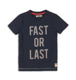DJ Dutchjeans DJ Dutchjeans jongens t-shirt Fast or Last Navy