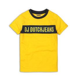 DJ Dutchjeans DJ Dutchjeans jongens t-shirt Logo Yellow