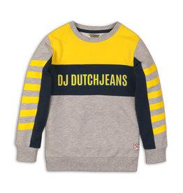 DJ Dutchjeans DJ Dutchjeans jongens sweater Logo Yellow Grey