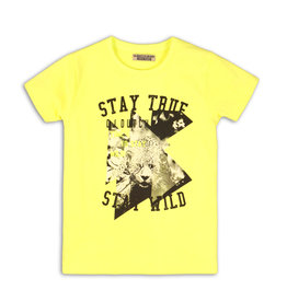 DJ Dutchjeans DJ Dutchjeans jongens t-shirt Stay True Neon Yellow