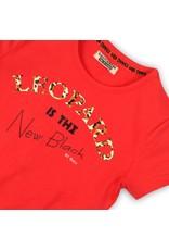 DJ Dutchjeans DJ Dutchjeans meisjes t-shirt Leopard Bright Red
