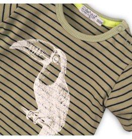 Dirkje Dirkje baby jongens t-shirt Toekan Army