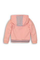 Dirkje Dirkje baby meisjes vest met roesels Light Pink