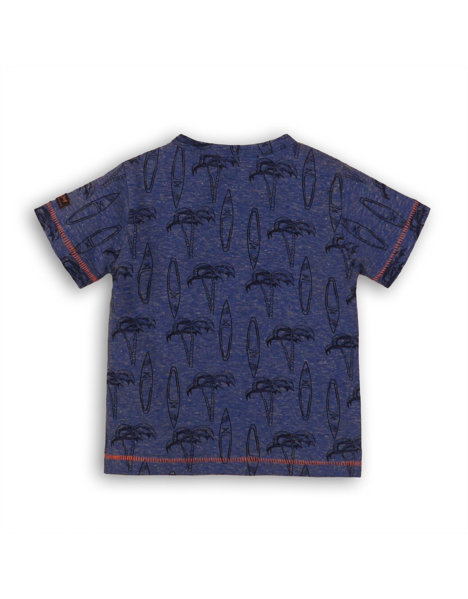Dirkje Dirkje baby jongens t-shirt Surf Blue
