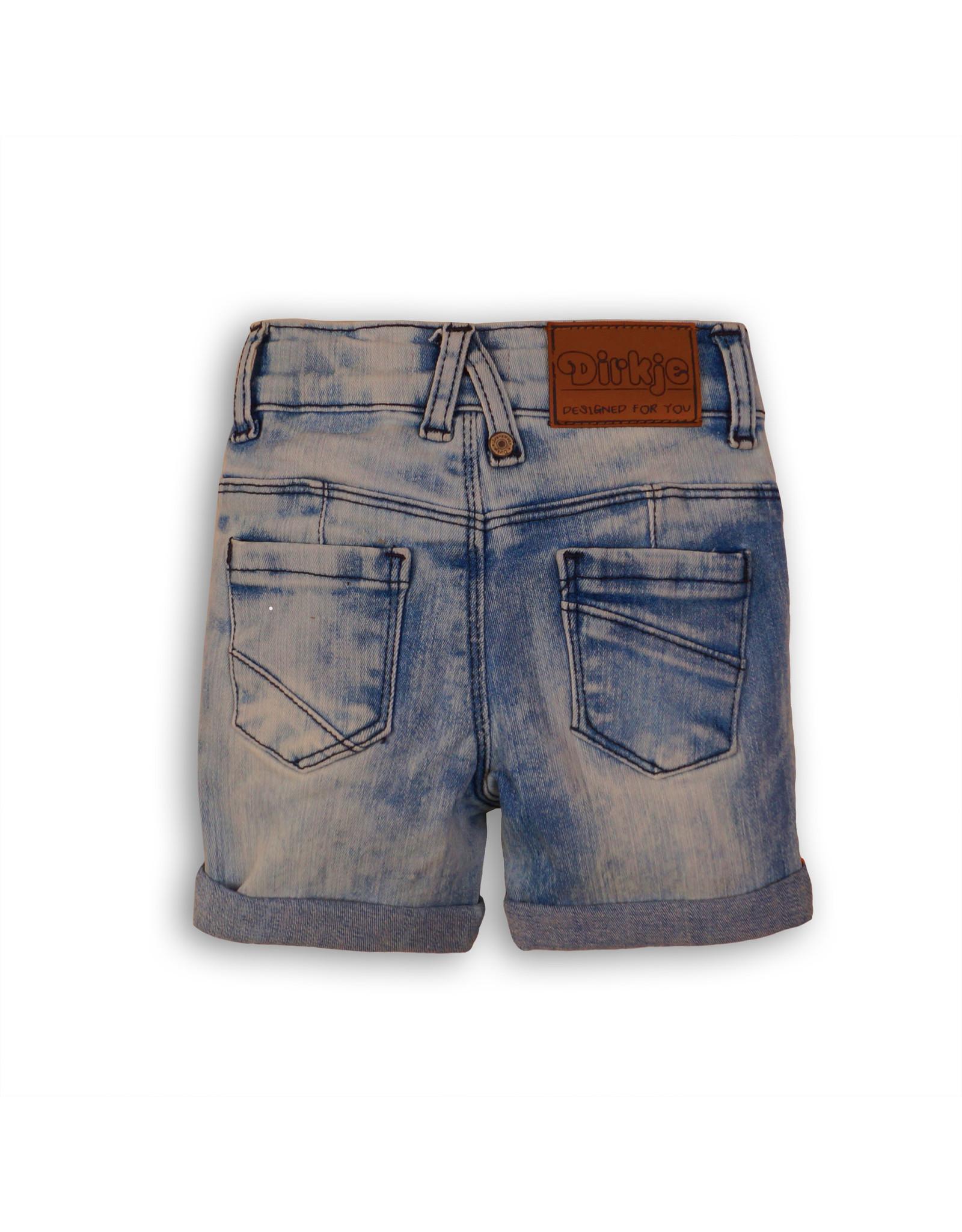 Dirkje Dirkje baby jongens korte spijkerbroek Light Blue Jeans