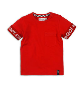 Dirkje Dirkje baby jongens t-shirt Go Red