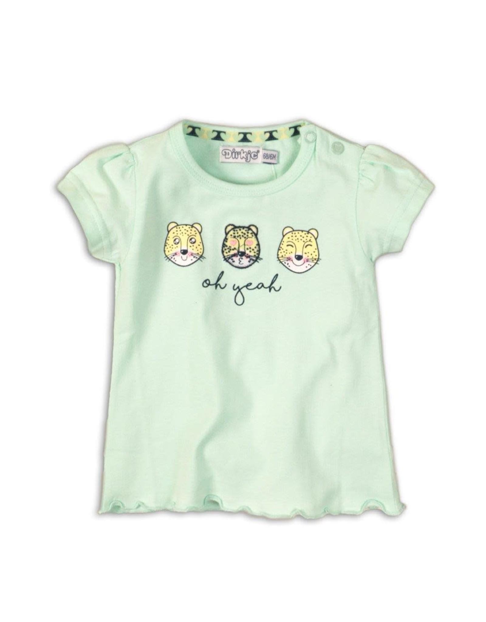 Dirkje Dirkje baby meisjes t-shirt Oh Yeah Mint