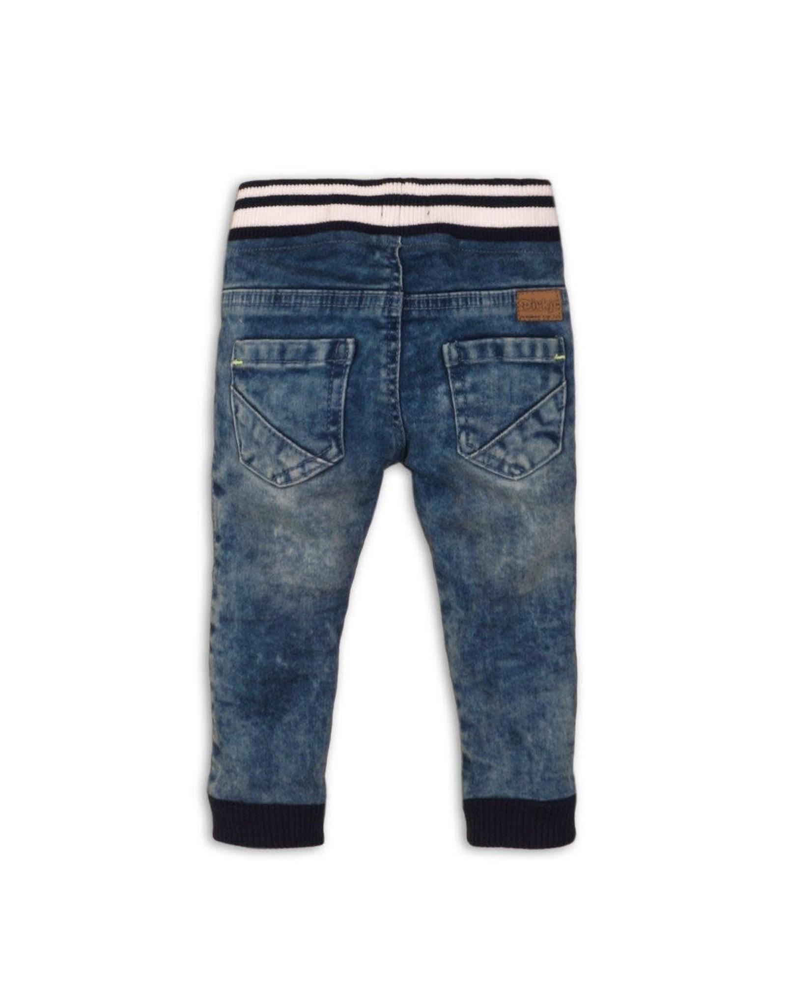 Dirkje Dirkje baby jongens jeans met elastieken band Jeans Blue