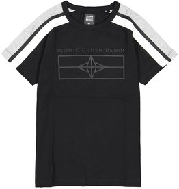 Crush Denim Crush Denim jongens t-shirt Topeka Black