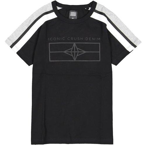 Crush Denim Crush Denim jongens t-shirt Topeka Black