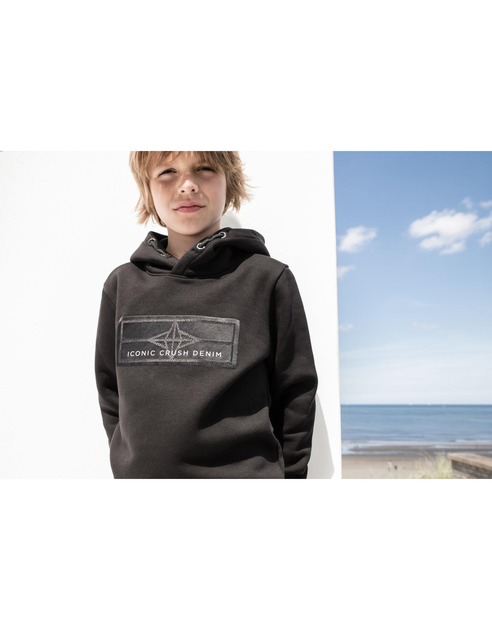 Crush Denim Crush Denim jongens hoodie Orlando Black