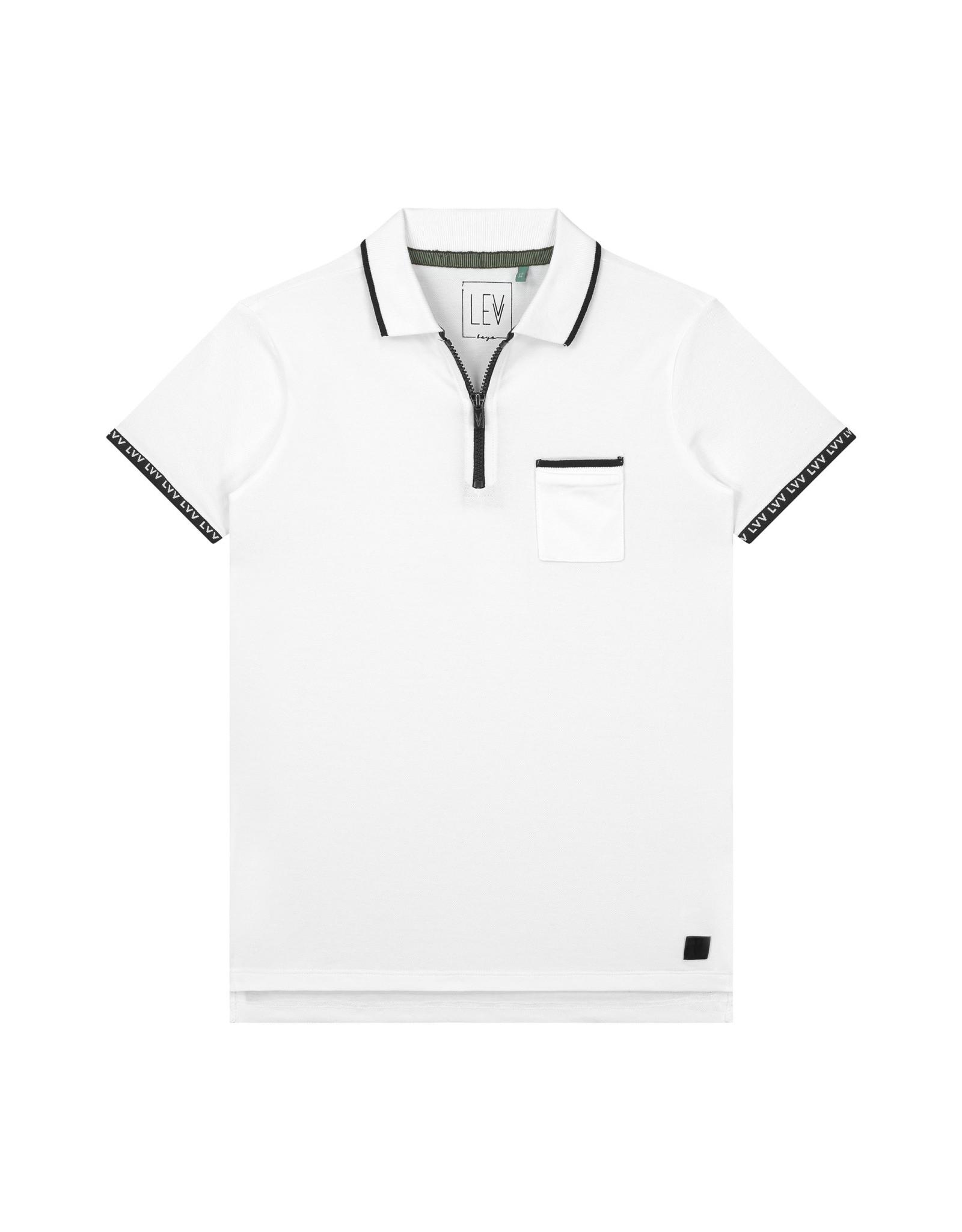 LEVV Levv jongens polo t-shirt Fons White