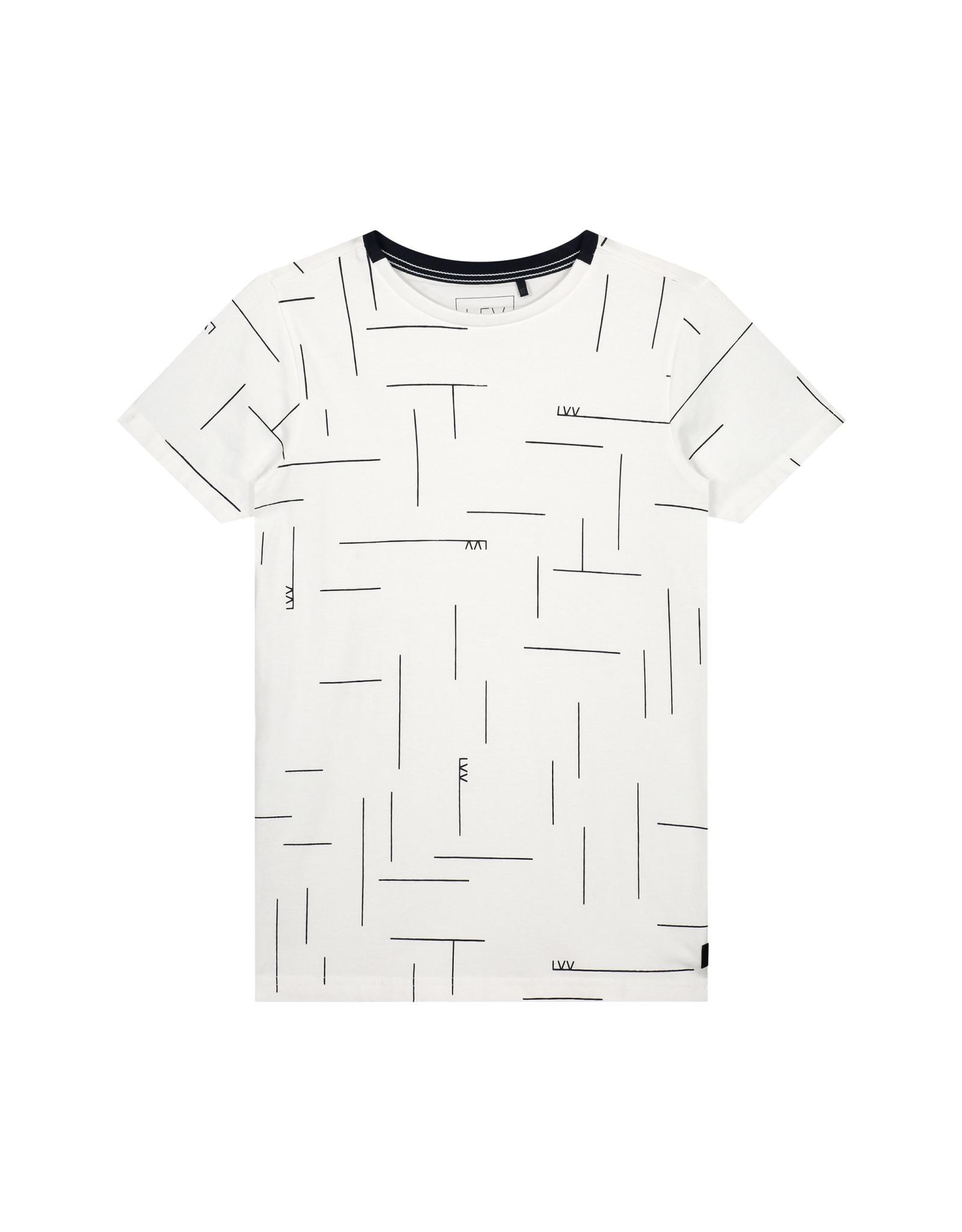 LEVV Levv jongens t-shirt Feas White Text