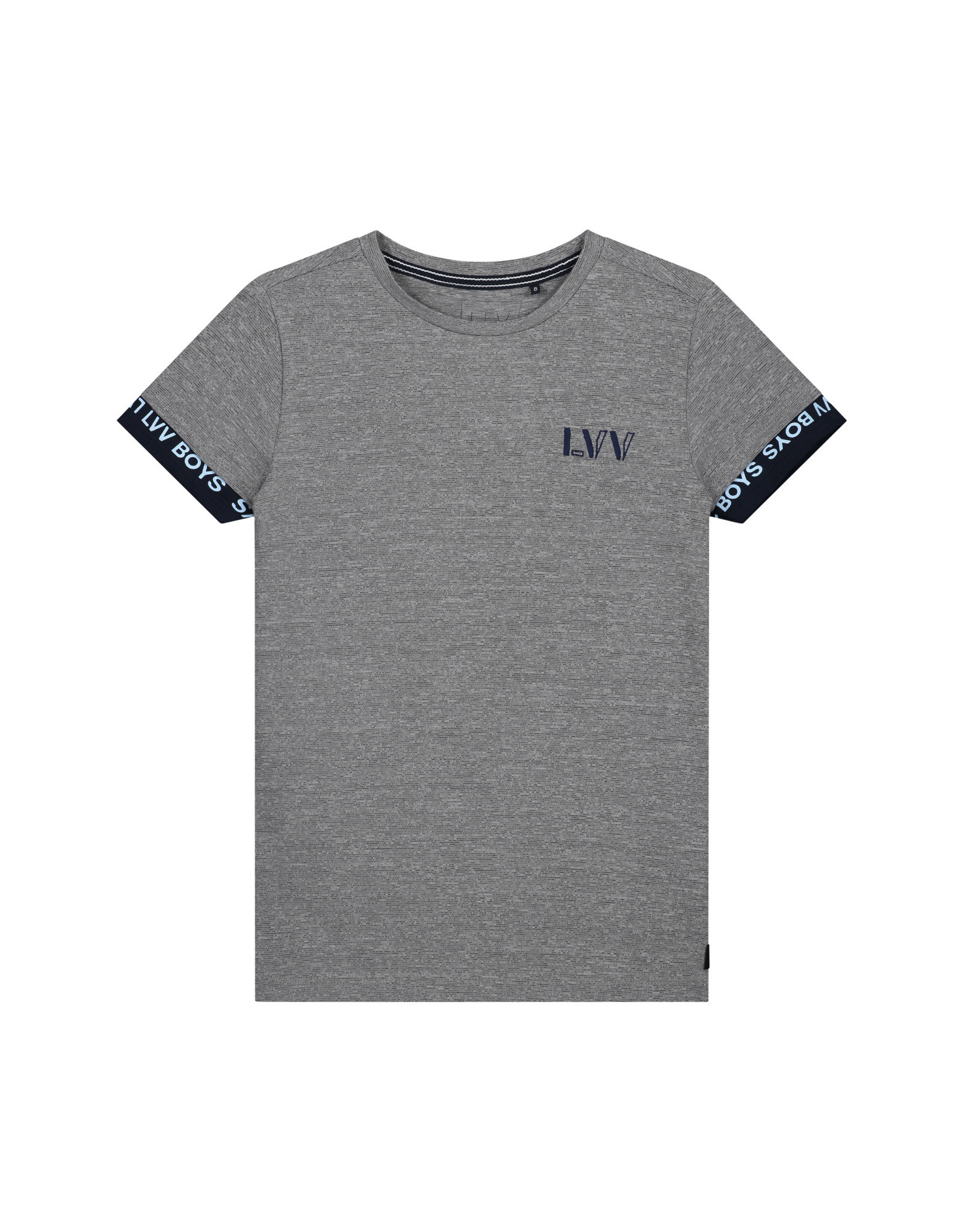 LEVV Levv jongens t-shirt Felipe Light Grey Stripe