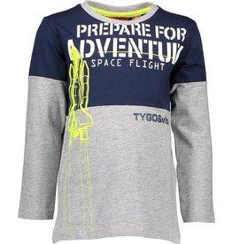 TYGO & vito TYGO & vito jongens shirt Prepare for Adventure