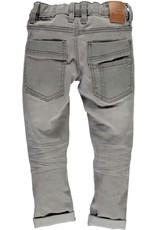 TYGO & vito TYGO & vito jongens skinny jeans met dubbele kniestukken Grey Denim