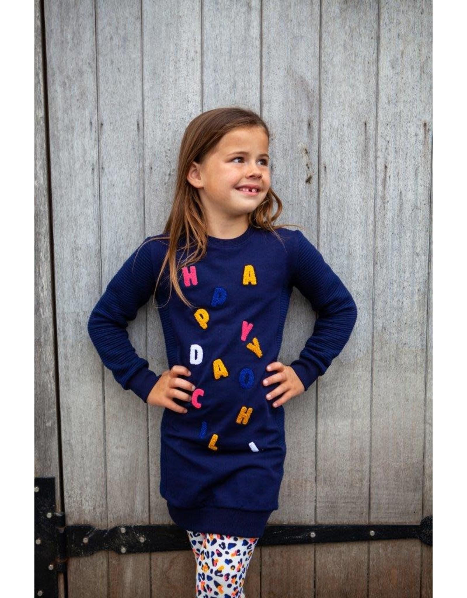 O'Chill O'Chill meiden jurk Frederique Kobalt