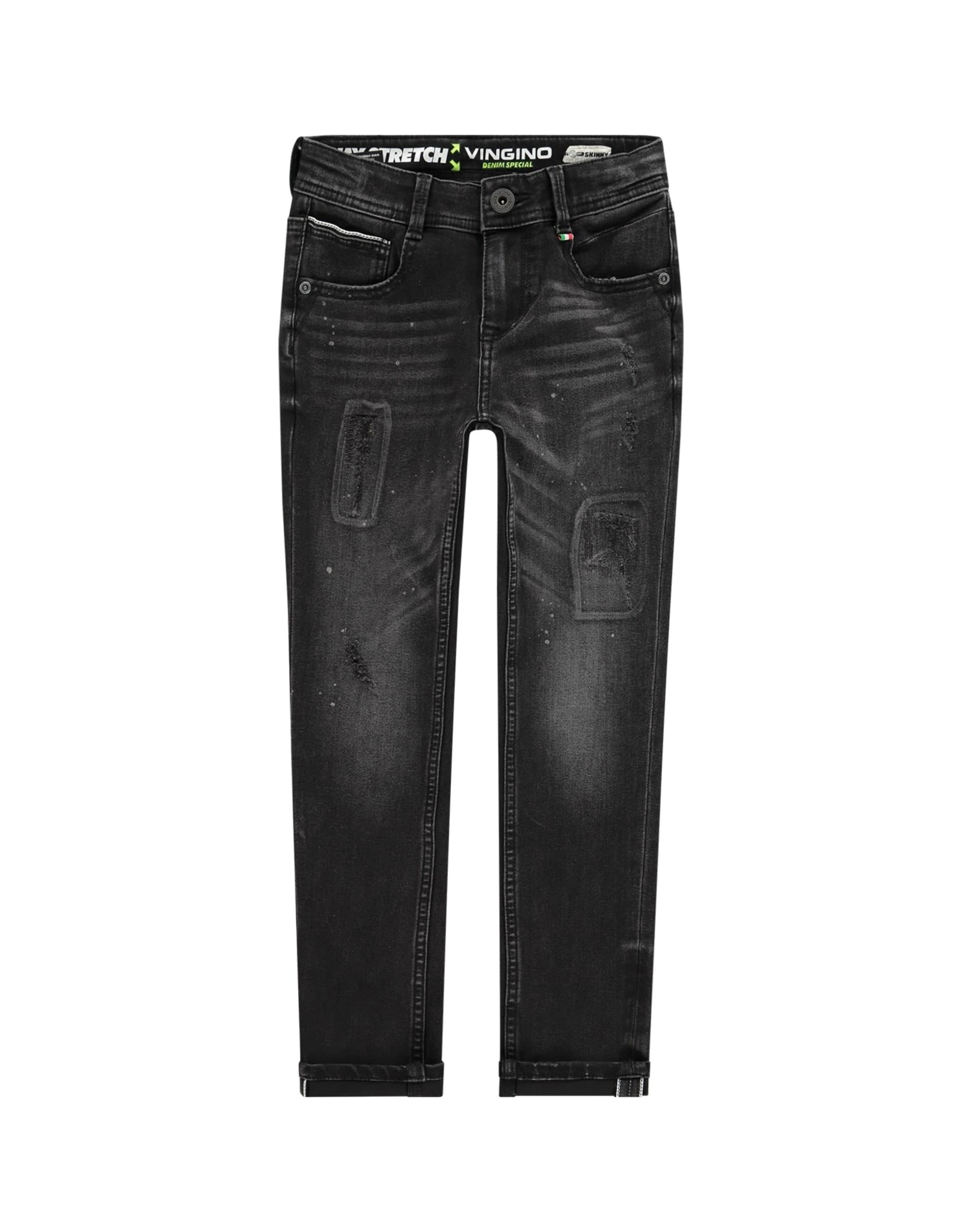 Vingino Vingino jongens 4-way stretch jeans Amadeo Black