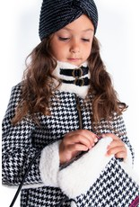 B.Nosy B.Nosy meisjes sjaal en muts met glitter Black