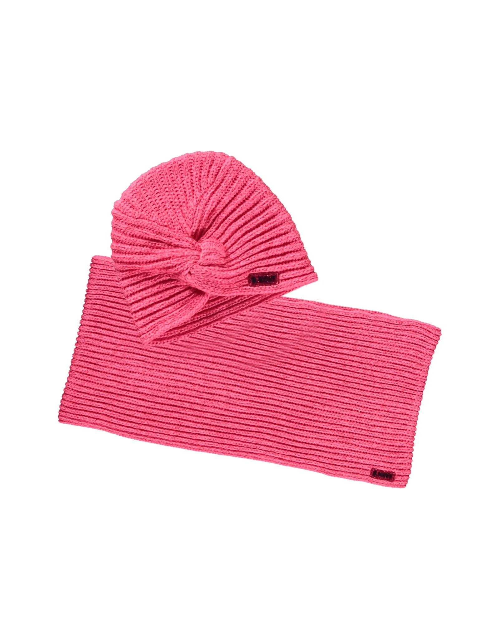 B.Nosy B.Nosy meisjes sjaal en muts met glitter Shocking Pink