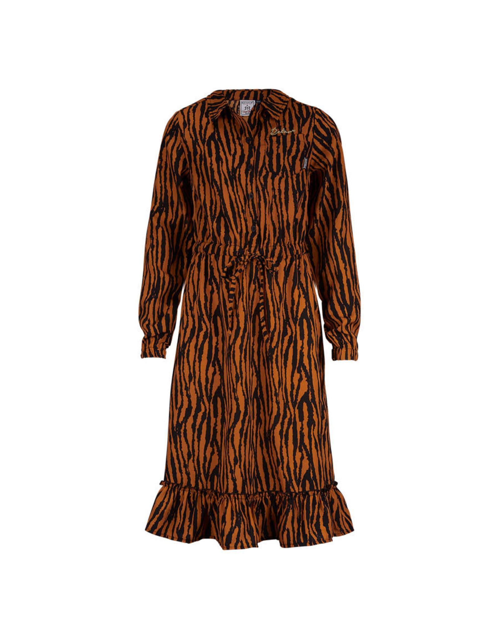 RETOUR Retour meiden jurk Clara Caramel