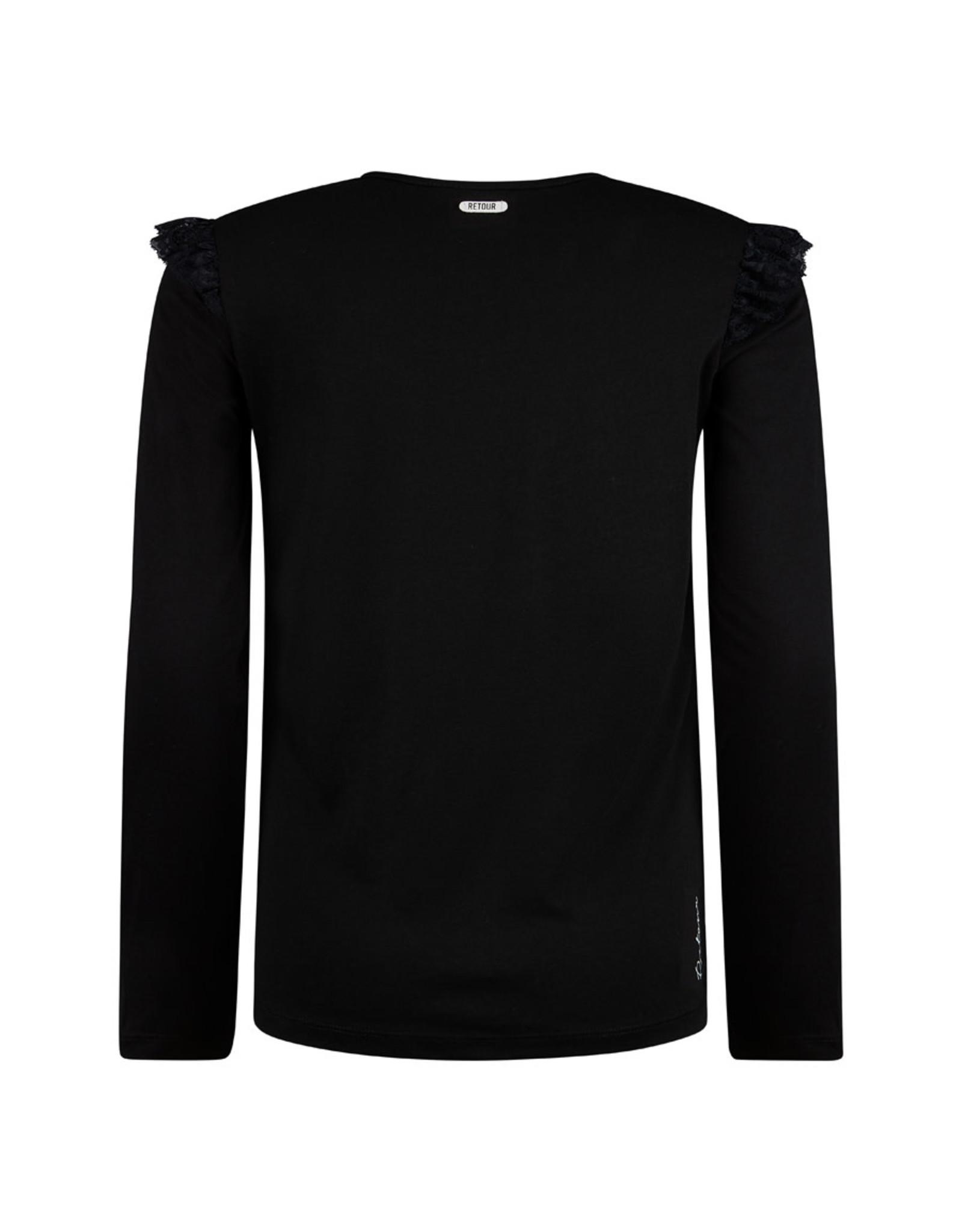 RETOUR Retour meiden shirt Romilda Black