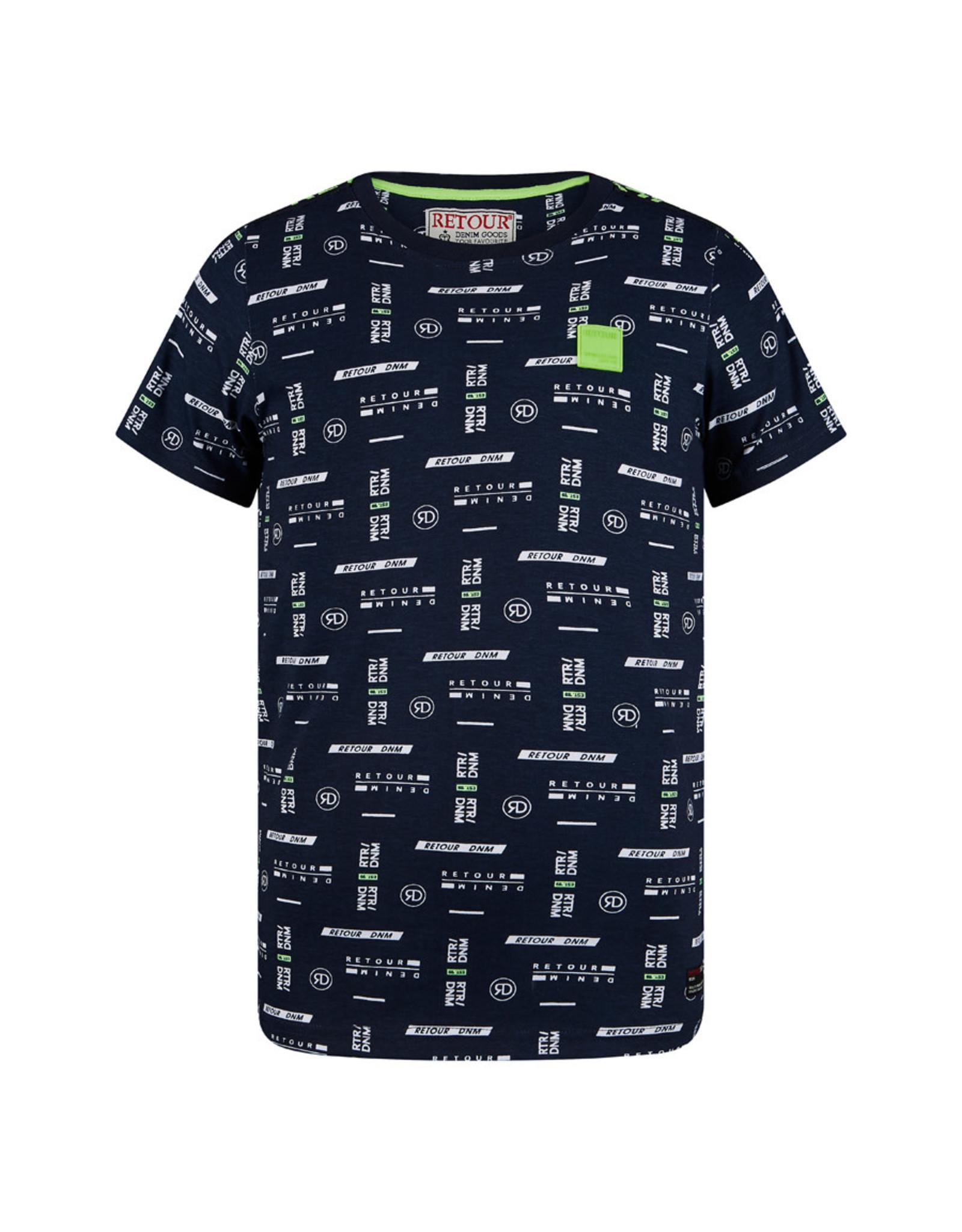 RETOUR Retour jongens t-shirt Roy Navy