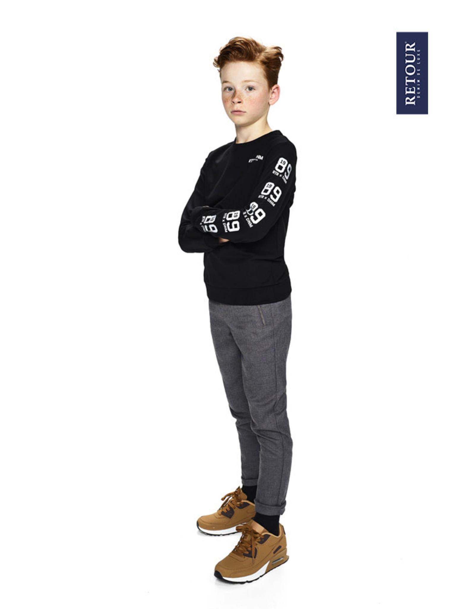 RETOUR Retour jongens sweater Rocky Black
