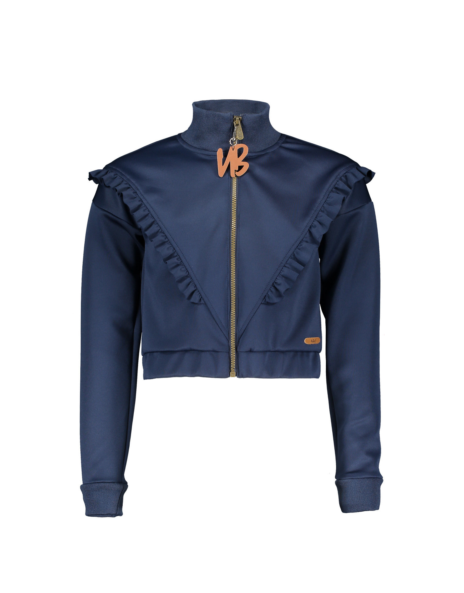 NoBell meiden cropped vest Dissy Grey Navy