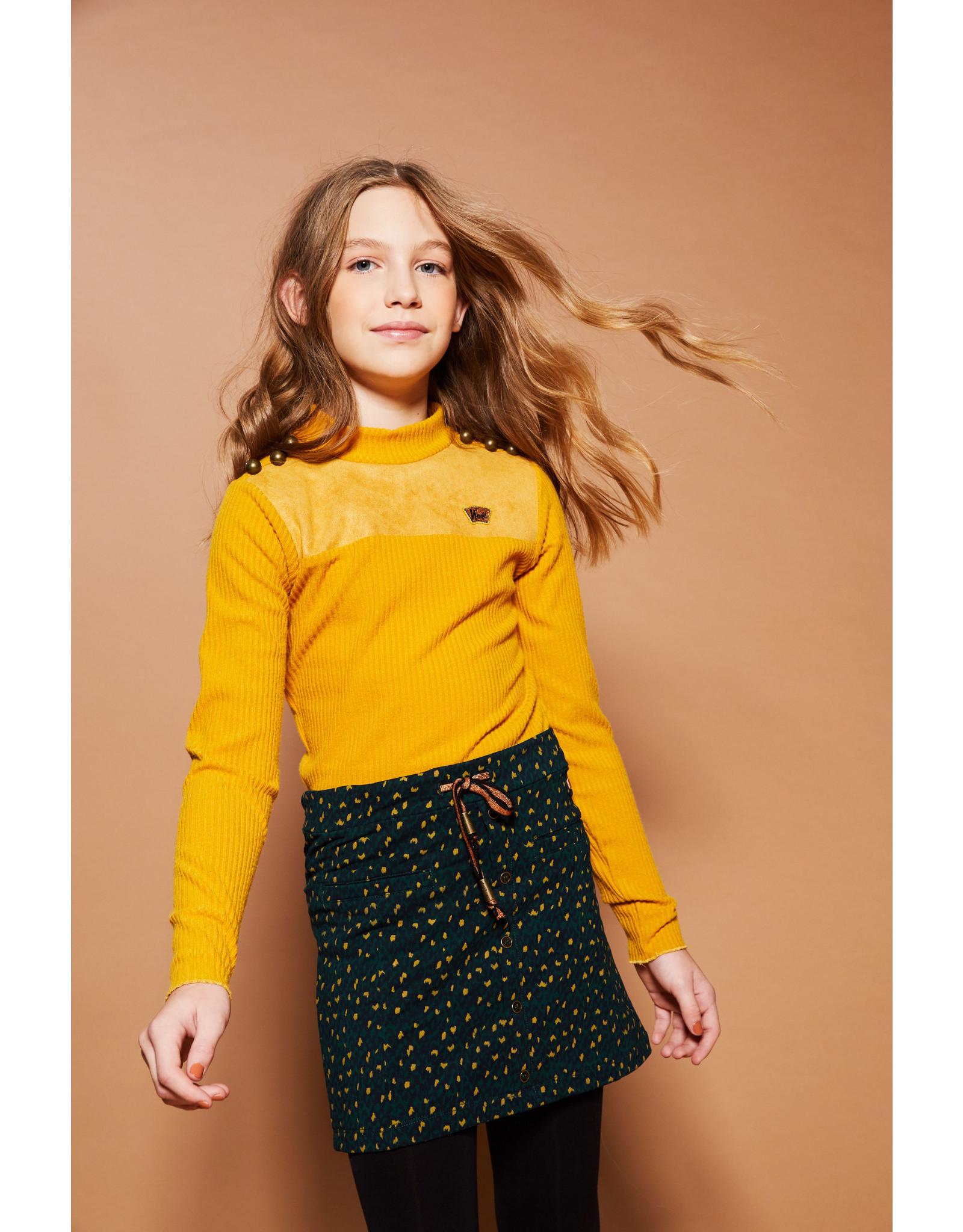 NoBell meiden rib shirt met col Kolet Yellow Gold