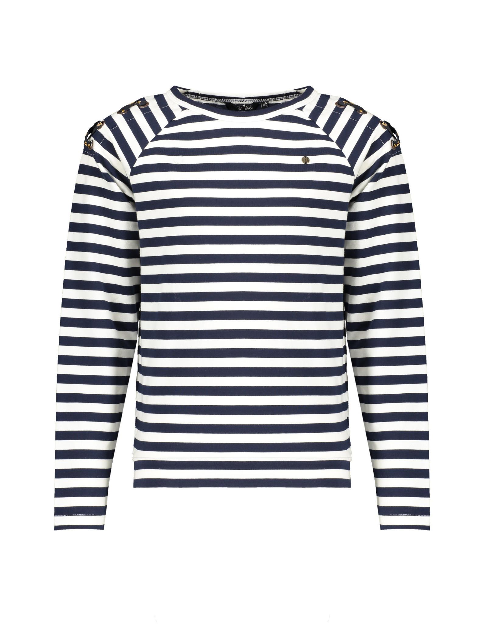 NoBell meiden gestreept shirt Kaz Grey Navy
