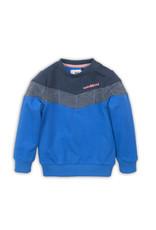 Koko Noko Koko Noko meisjes sweater met geruit blok Bright Cobalt