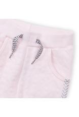 Dirkje Dirkje baby meisjes joggingbroek Pink met bies