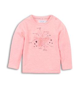 Dirkje Dirkje baby meisjes shirt Pink Star
