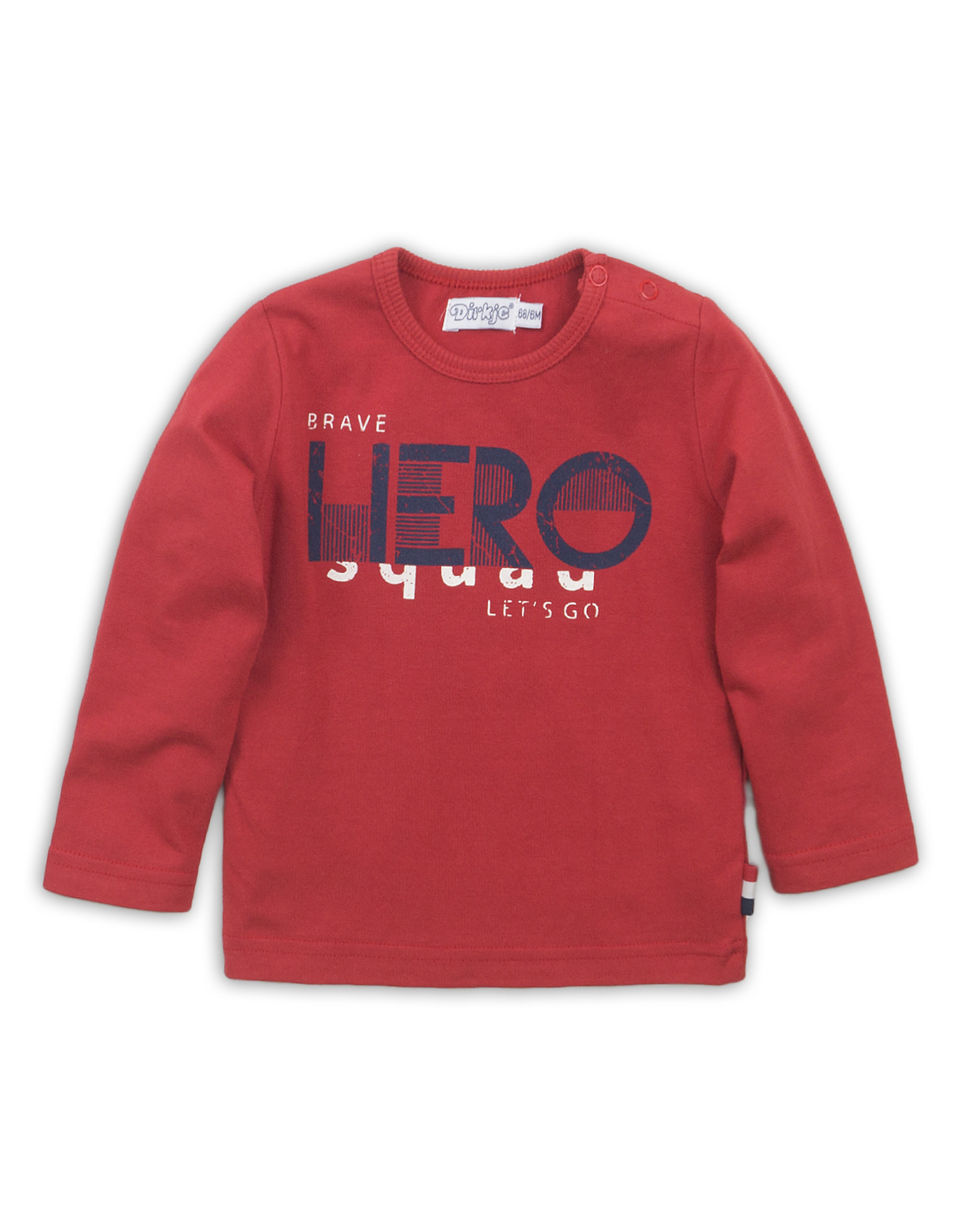 Dirkje Dirkje baby jongens shirt Red Hero