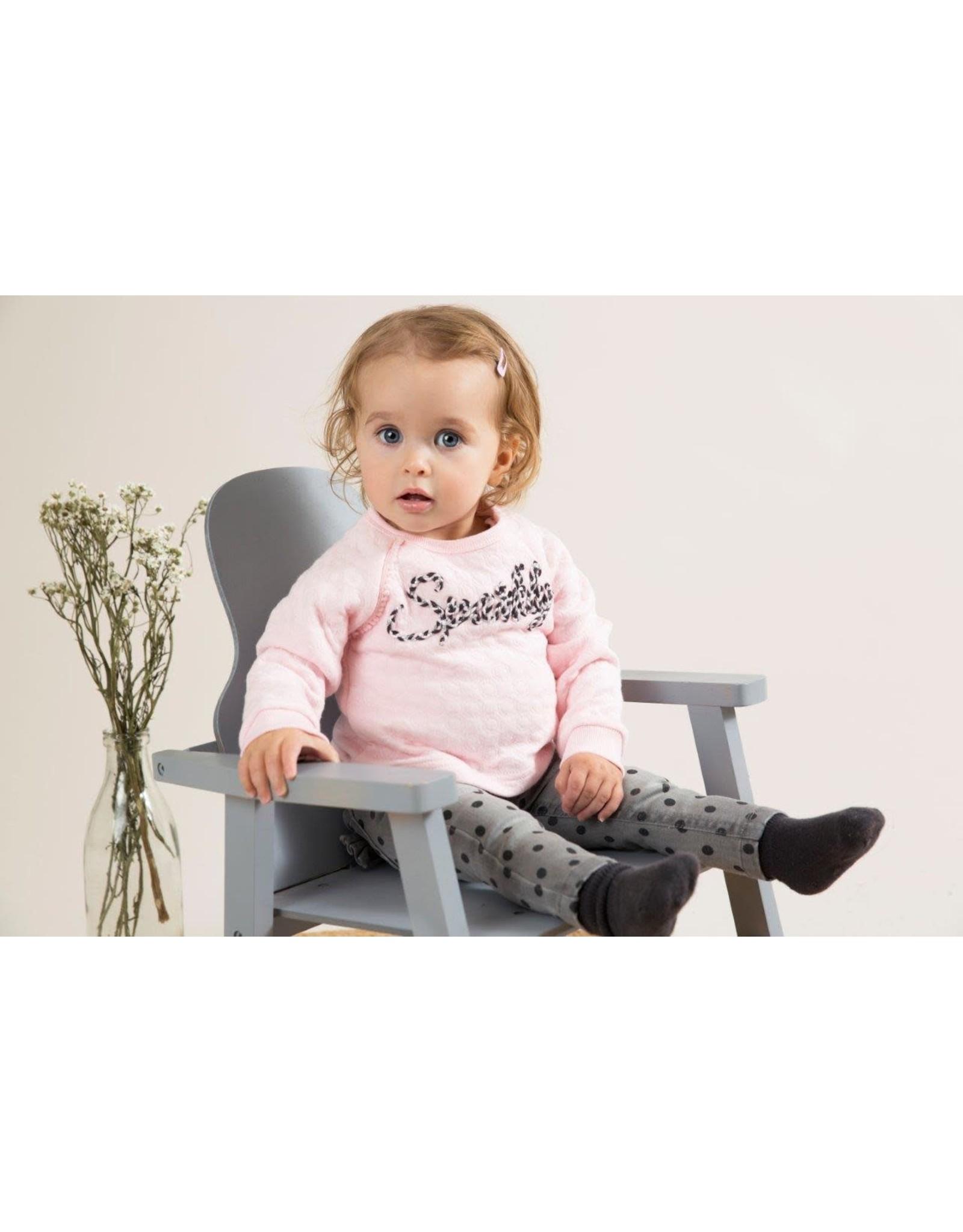 Dirkje Dirkje baby meisjes sweater Sparkly Pink