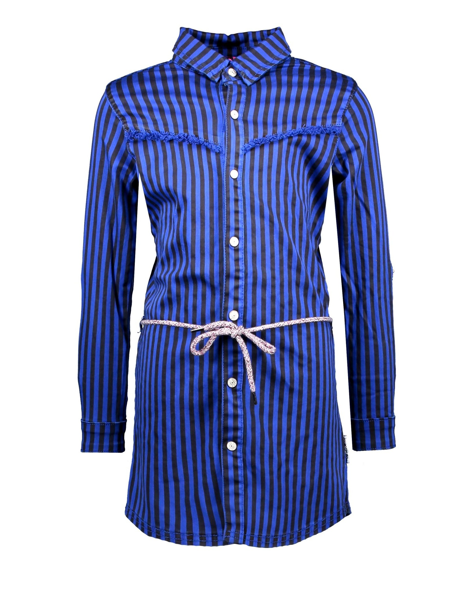 B.Nosy B.Nosy meisjes strepen jurk Cobal Blue Stripe