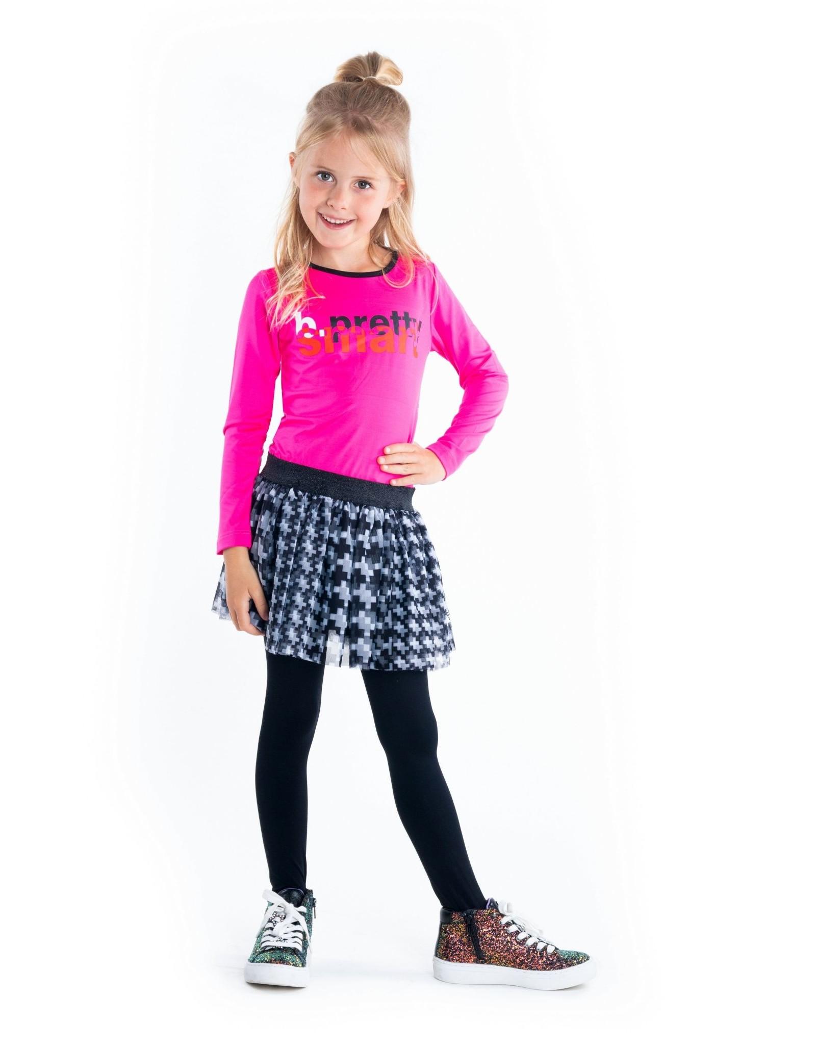 B.Nosy B.Nosy meisjes jurk Pretty Smart Pink Glo