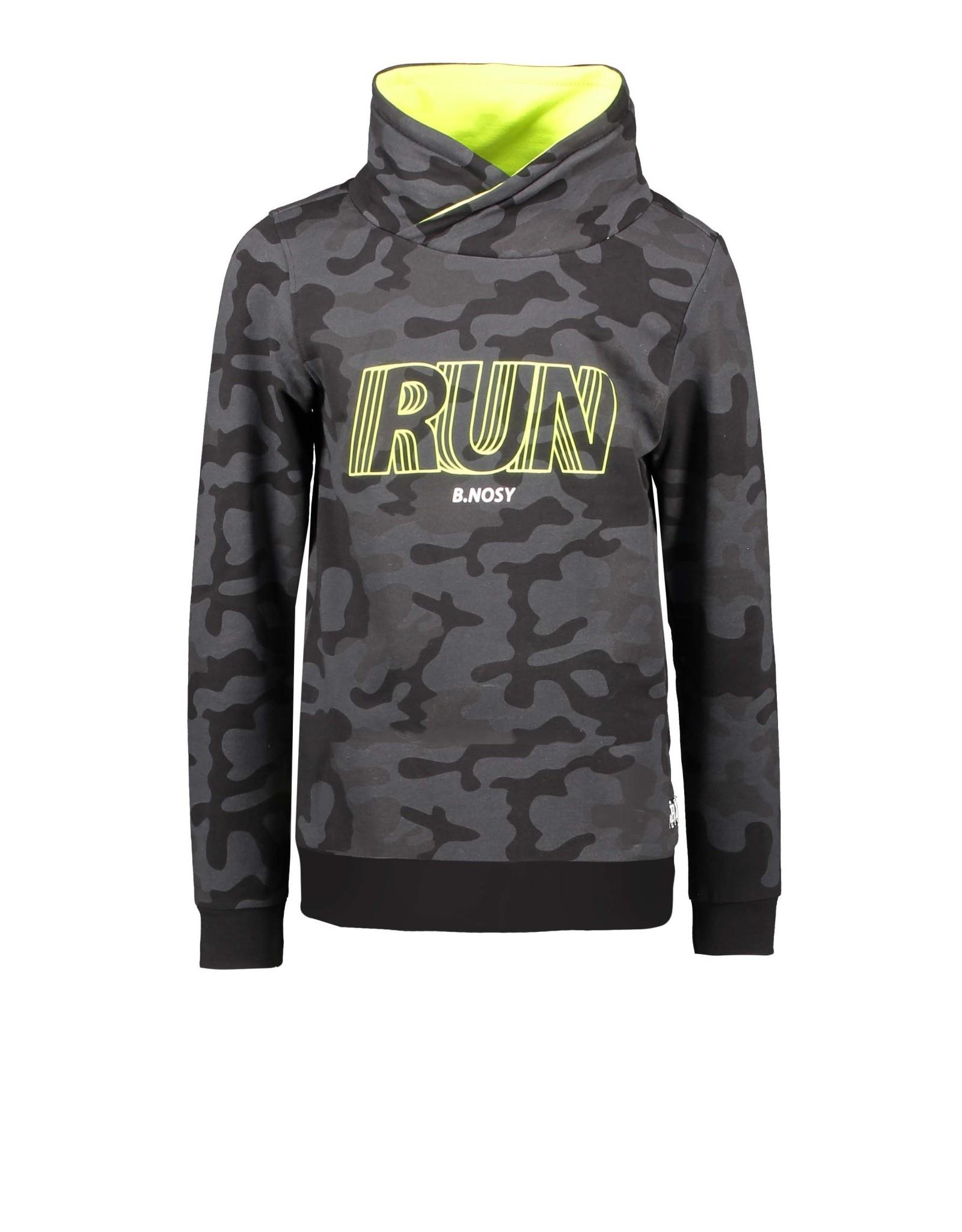 B.Nosy B.Nosy jongens sweater Run Fast Camouflage