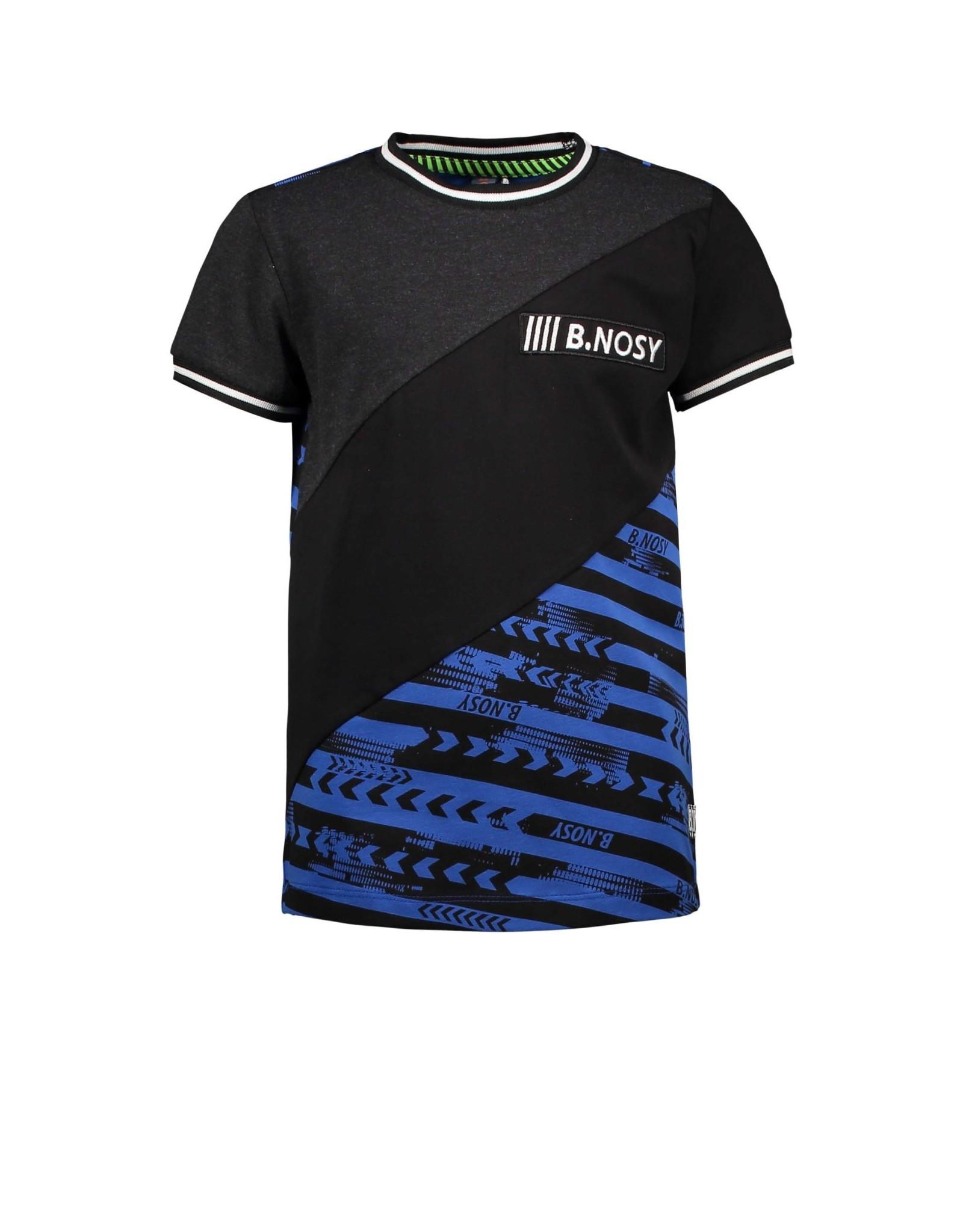 B.Nosy B.Nosy jongens t-shirt Forward Oxford Stripe