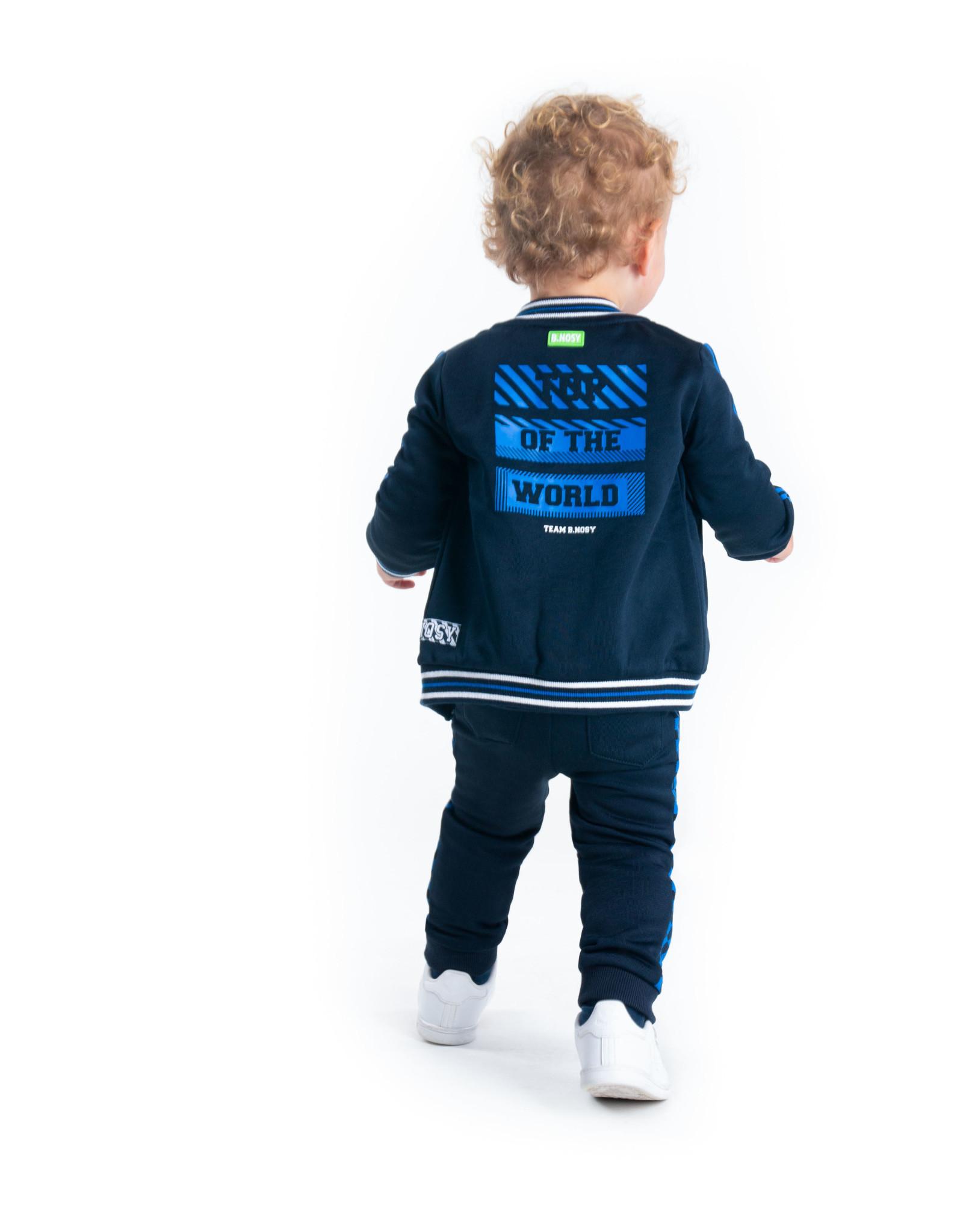 B.Nosy B.Nosy baby jongens vest Top of The World Oxford Blue