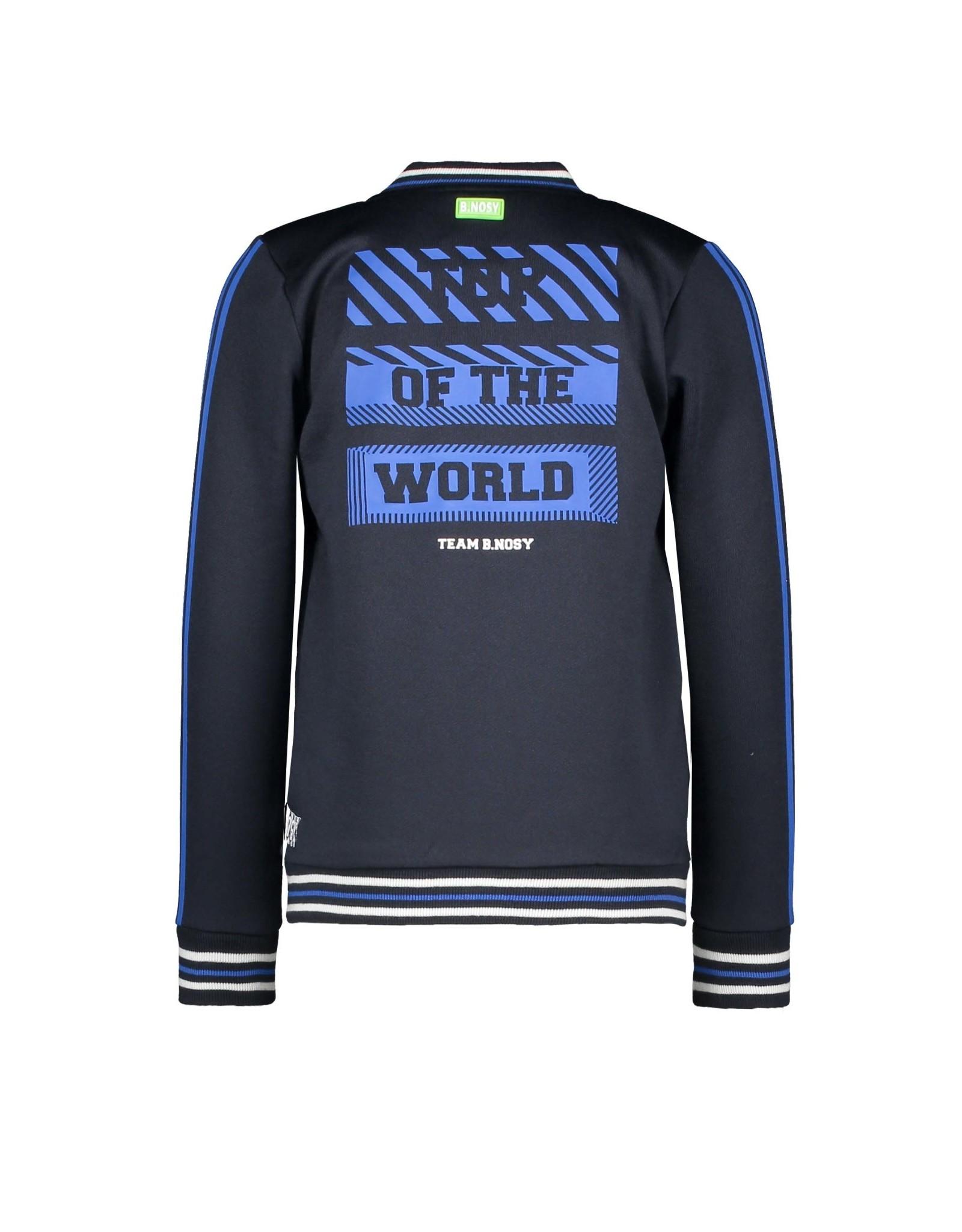 B.Nosy B.Nosy jongens vest Top of The World Oxford Blue