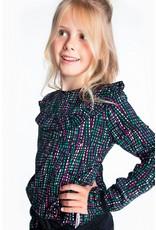 B.Nosy B.Nosy meisjes shirt met roesel Rock Stripe