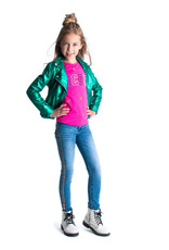 B.Nosy B.Nosy meisjes jeans met bies Mid Blue Denim