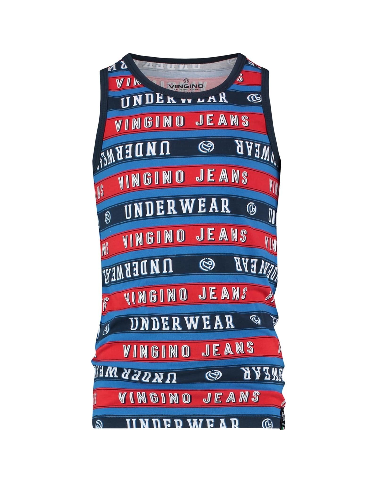 Vingino Vingino jongens ondergoed hemd Striped Dark Blue