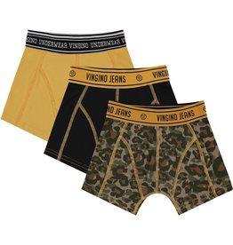 Vingino Vingino jongens ondergoed 3-pack boxers Camole Army Green